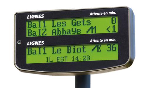 Information voyageurs au sol